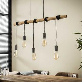 Suspension industrielle 5 lampes suspendues Corentin