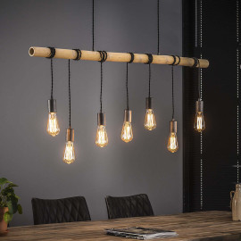 Suspension industrielle 7 lampes suspendues Louis