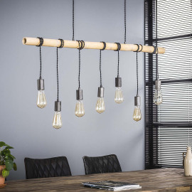Suspension industrielle 7 lampes suspendues Corentin