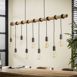 Suspension industrielle 9 lampes suspendues Corentin