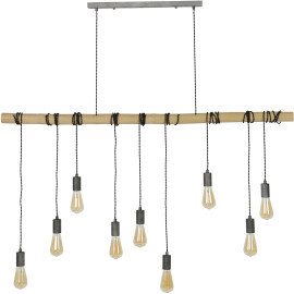 Suspension industrielle 9 lampes suspendues Louis