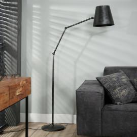 Lampadaire industriel articulé en métal noir Damien