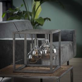 Lampe de table industrielle en métal argenté Jules