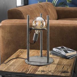 Lampe à poser vintage en métal argenté Ø12,5 cm Calvin II