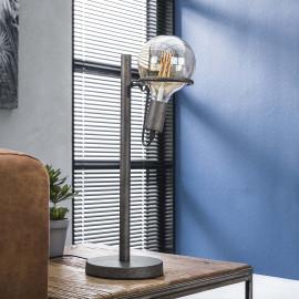 Lampe de table vintage en métal argenté Ø12,5 cm Calvin I