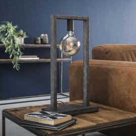 Lampe de table industrielle en métal argenté Adèle