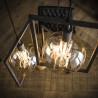 Suspension industrielle 3 lampes en métal Marco