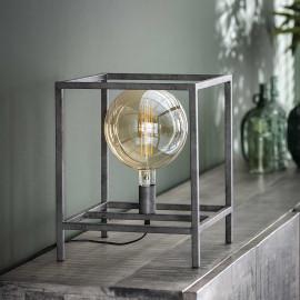 Lampe de table industrielle en métal argenté Gaston