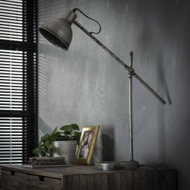 Lampe de table industrielle en métal Estelle