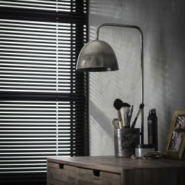 Lampe de table industrielle en métal gris Arielle