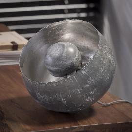 Lampe de table industrielle en métal gris Ø26 cm Charlie
