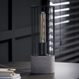 Lampe de table vintage en métal Aline