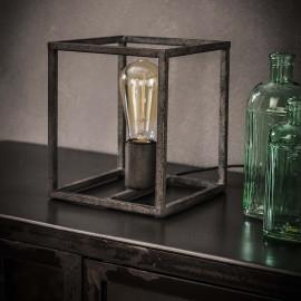 Lampe de table vintage en métal gris ancien Noa
