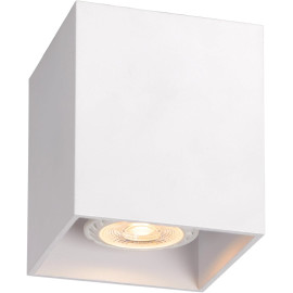 Plafonnier design cubique chrome Malicia