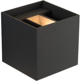 Applique carrée led design noire Sony
