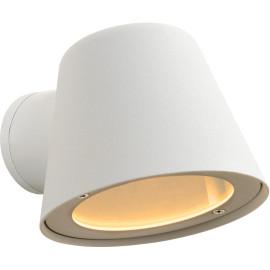 Applique moderne d'extérieur en aluminium blanc Ø11,5 cm Elda