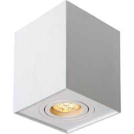 Spot design cubique satiné chrome Dusty