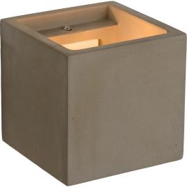 Applique moderne cube blanc Didine