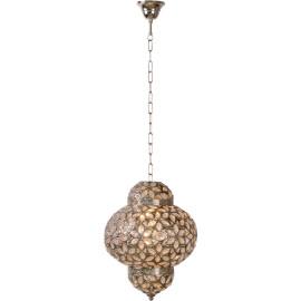 Lustre oriental en métal brun Raïa