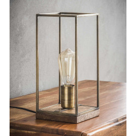 Lampe de table vintage en acier coloris bronze Louis