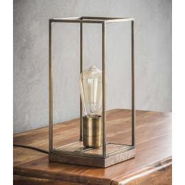 Lampe de table vintage en acier coloris bronze Louis