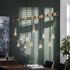 Suspension moderne en bambou 11 lampes Corentin