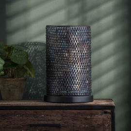 Lampe de table industrielle en métal rouillé Rico