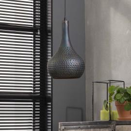 Suspension industrielle en métal noir rouillé Ø 25 cm Esther