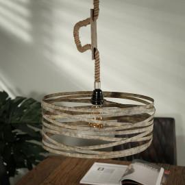Suspension vintage en métal 1 lampe Ø 40 cm David