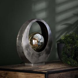 Lampe de table industrielle lune en métal gris Christian